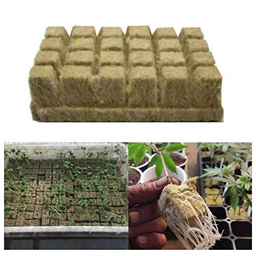 Groust Steinwolle Anzuchtmatte, Importierte Steinwolle Bodenloses Kultur Substrat, Landwirt Schaftliche Stecklinge, Für Stecklinge, Klonen, Pflanzenvermehrung, Für Kräftiges Pflanzenwachstum