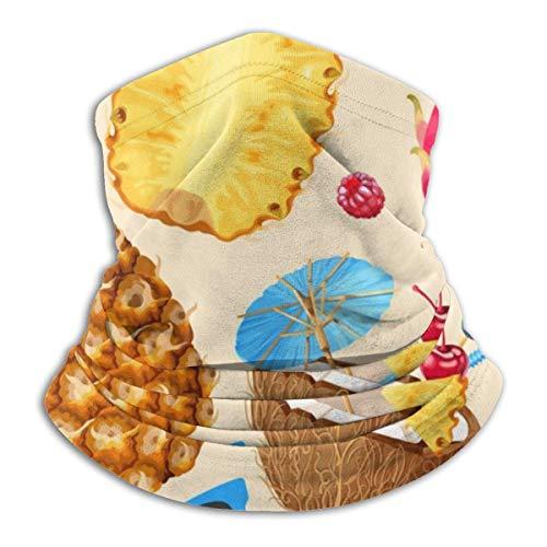 Lzz-Shop EIS Avocado zonnebril ananas halsverwarmer - haarbanden sjaal hoofdwikkeling, hals gamasche buis vissen, gezicht sport sjaal