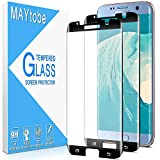 [2 Pack] MAYtobe 3D Curved Dot Matrix Full Glue Glass Screen Protector For Samsung Galaxy S7 Edge Tempered Glass Film, Full Screen Coverage, Touch Sensitive, High Definition, 9H Hardness, HD Clear