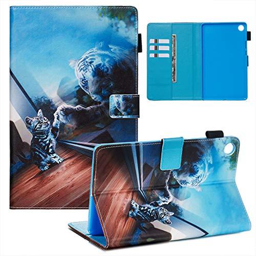LMFULM® Hülle für Huawei MediaPad M5 (8,4 Zoll) PU Lederhülle Smart Hülle Cover Ständer Schutzhülle Flip Cover Spiegel