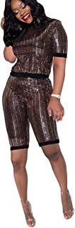 sequin short set