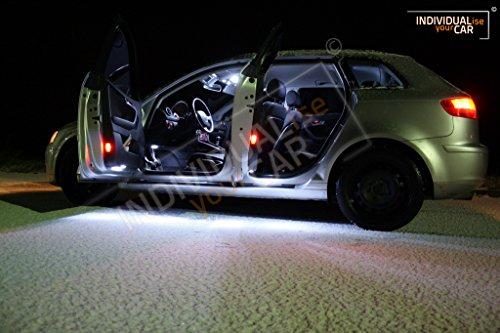 Innenraumbeleuchtung SET für A3 8PA Sportback - Cool-White Kaltweiß