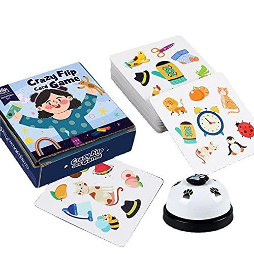 N/A/A Dobble Kartenspiel, 54PCS Crazy Match Interaktive Karte, Hohe Qualität, Familien Denkspiel Für Kinder Und Erwachsene