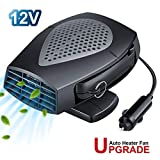 Car Heater, 12V Portable Automobile Windscreen Fan with 2 in 1 Modes for Fast Heating Defrost...