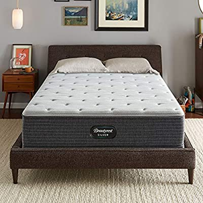 Beautyrest Silver BRS900 12 inch Plush Innerspring Mattress, King, Mattress Only