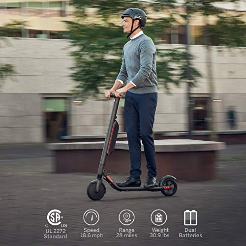 Segway Ninebot ES4 Electric Kick Scooter with One Additional Battery, Lightweight and Foldable, Upgraded Motor Power, Dark Grey (2019 Version)