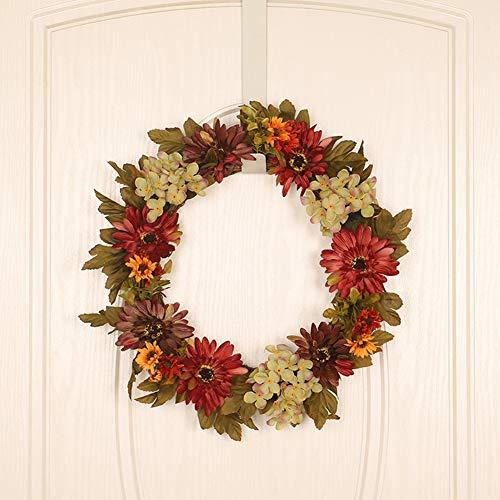 iSpchen Garland Haustür, Herbst Kranz Hortensie künstliche Chrysantheme, Thanksgiving/Halloween/Weihnachten Garland Wände Fenster Home Decoration