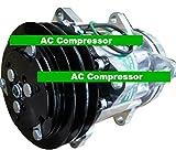 GOWE AC Compressor for SANDEN 7H15 AC Compressor for Tractor Massey Ferguson 6190 Model 7952 375 383 390 3050 3080 4240 4255 ++