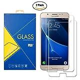 [2 Pack] Protector Cristal Vidrio Templado Compatible Samsung Galaxy J7 (2016) SM-J710 / J710F / J710FN / J710FZ / 710 – Pantalla Antigolpes y Resistente Al Rayado