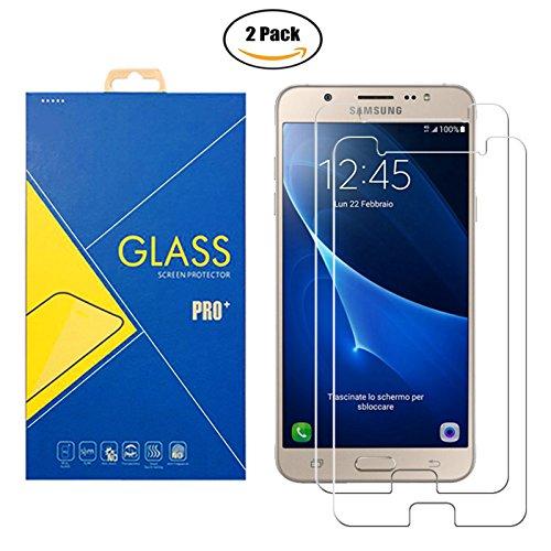 Glass [2 Pack] Panzerglas Schutzfolie Samsung Galaxy J7 (2016) SM-J710 / J710F / J710FN / J710FZ / 710 - Gehärtetem Glas Schutzfolie Displayschutzfolie Kompatibel Mit Samsung Galaxy J7 (2016)