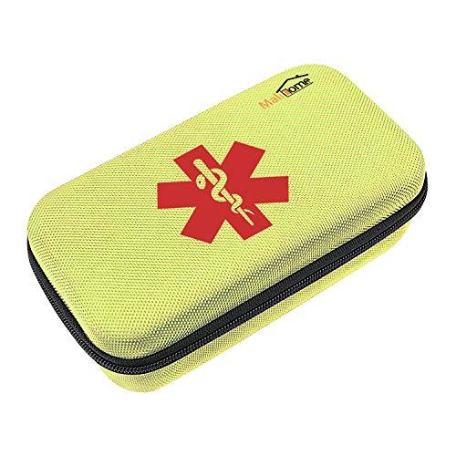 Asthma Inhaler Spacer und Aerochamber Tragetasche für Kinder und Erwachsene. wasserdichte Medizintasche und Reiseveranstalter für Inhalator, Spacer, Maske, Epipen und Medikamente. (Nur Gehäuse, Gelb)