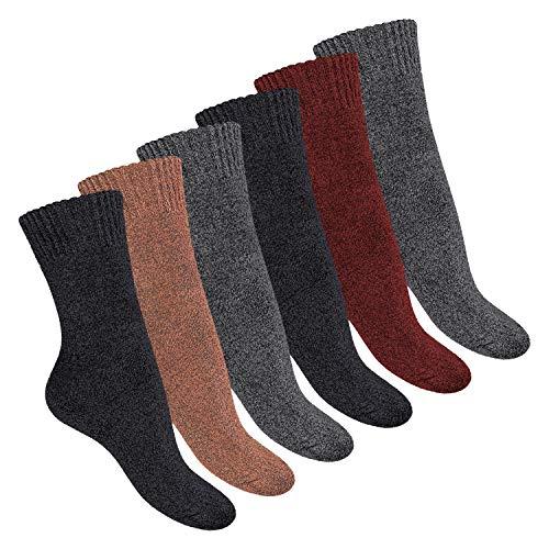 Footstar Damen Norweger Socken (6 Paar) Vollfrottee Socken mit Thermo Effekt - Mix 39-42