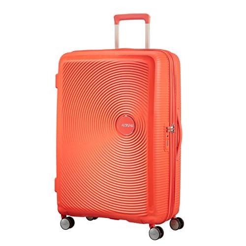 American Tourister Soundbox Spinner Espandibile Bagaglio A Mano, 77 cm, 97/110 L, 4.2 Kg, Arancione (Spicy Peach)