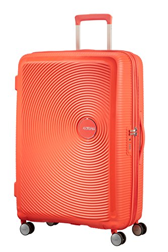 American Tourister Soundbox - Spinner Large Expandable Bagaglio a mano, 77 cm, 110 liters, Verde (Almond Green/Gold)
