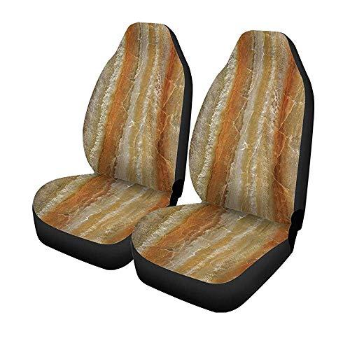 Beth-D Set voor autostoelen, muur, natuur, marmer, badkuip, vloer, tegels, voorstoelen, universele beschermer, 14 – 17 inch, 2 stuks