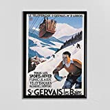 Swiss Travel Art - Schweiz Ski Poster Sport Retro Decor St
