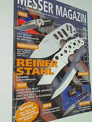 Messer Magazin Nr. 2 / 2009 Test: Sog Fatcat, Böker Plus MA-2, Cherusker-Messer Anduranz, CRKT Slip K.I.S.S., Randall Mod. 26 Pathfinder. Zeitschrift , 4195012305505
