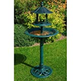 <span class='highlight'><span class='highlight'>Kingfisher</span></span> RESIN ORNAMENTAL BIRD BATH & FEEDER TABLE. WEATHER, ROT PROOF. NO TOOLS ASSEMBLY