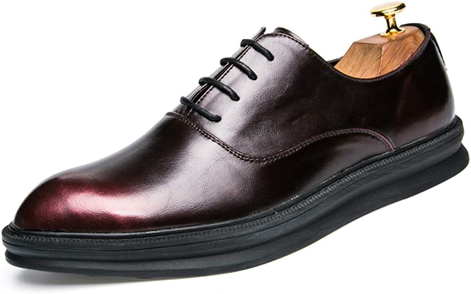 Z.L.F shoes Men's Business Oxford Casual Classic Retro color Contrast Comfortable Outdoors Formal shoes Leather shoes