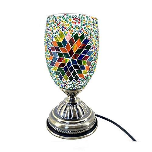 OOFAY LIGHT Mosaik Tischlampe Marrakesch Türkisch Mosaik Glas Bett Sagte Beleuchtung Marokkanisch Stil Licht Zum Schlafzimmer Wohnzimmer Kaffee