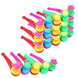 HFBlins Floating Blow Pipe Balls Game Toys, Blowing Pipe Whistles Balls Toys for Kids, Classic Stress Reliever Balance Blowing Toys for Toddler Children and Adults (20 PCS Assorted Color)