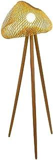 BESTPRVA Japanese Style Floor Lamp Bambou Nid d'oiseau Abat Lampadaire avec Corps de la lampe en bois massif for Chambres ...
