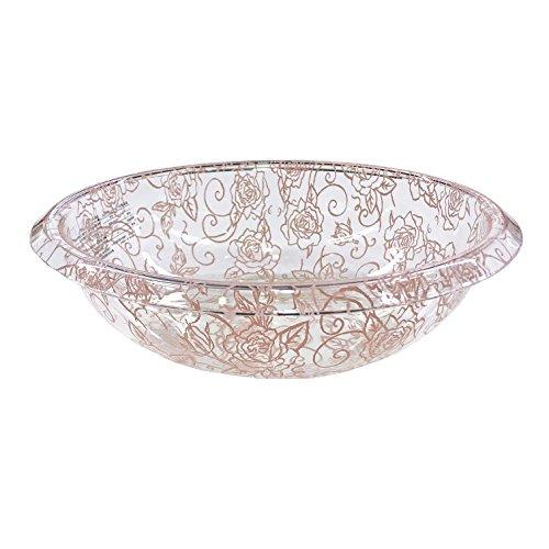 センコー クリアローズ ウォッシュボール 洗面器 ピンク 約直径25×高7cm 73800