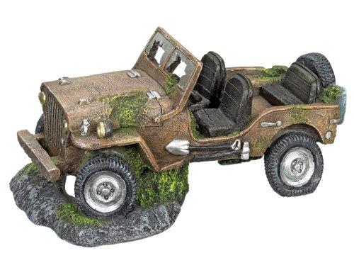 Nobby Décoration pour Aquarium en Forme de Epave de Jeep pour Aquariophilie 260 x 155 x 125 mm