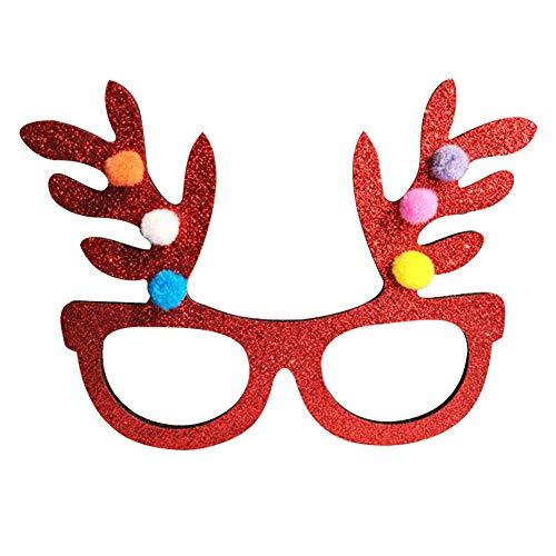 Gafas de Nykkola con forma de cuernos, copos de nieve, árbol de Navidad, para niños y adultos b