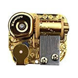 Bankour Golden Plated Wind up Sankyo Musical Movement for DIY Music Boxes (50 Tunes Option) (Beauty and The Beast)