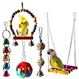 Umiwe 5 Unidades Juguetes para Pájaros Colorful Columpio para Loros...