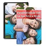 Custodia personalizzata per tablet Amazon Fire HD 8 (compatibile con tablet Fire HD 8 (versione 2018/2017/2016)) Personalizzata con foto e testo per regali di compleanno Festival Natale Capodanno
