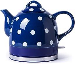 ZHZHUANG keramische waterkoker draadloze watertheepot, theepot-retro 1L kan, 1000W water snel voor thee, koffie, soep, hav...