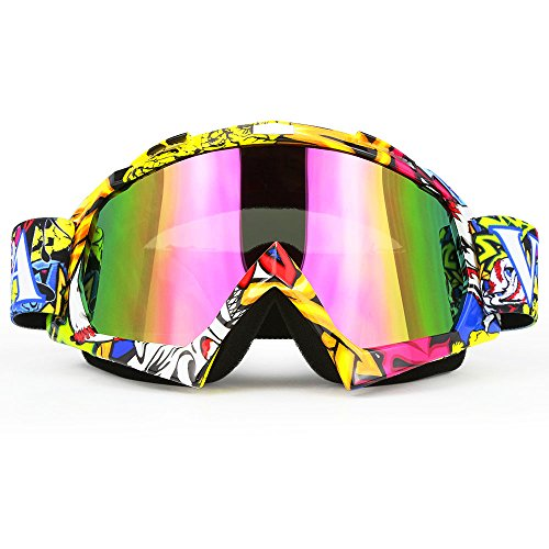 JAMIEWIN Professtional Adult Motorcycle Goggles Off Road Dirt Bike ATV Riding Motocross Mx Goggles Glasses for Men Women Youth Kids(C74)