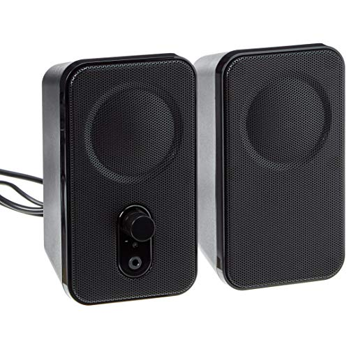 AmazonBasics Computer Speakers for Desktop or Laptop | AC-Powered
