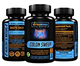 Colon Sweep - Detox & Cleanser for Weight Loss and Constipation Relief - All Natural Colon Cleanse Detox Pills for Men & Women Helps Flush Toxins and Boost Energy - Safe & Effective - 60 Veggie Caps