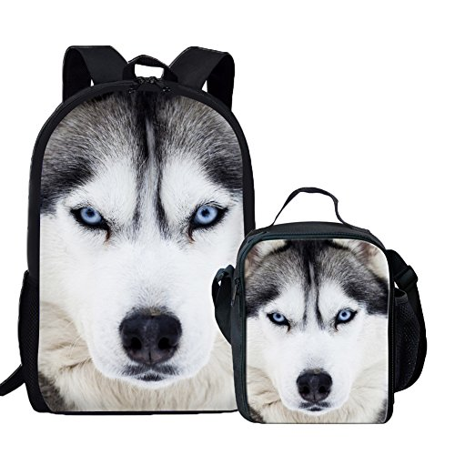 Coloranimal K-311C+G9, Unisex Kinder Kinderrucksack Husky Backpack+lunch Bag Einheitsgröße