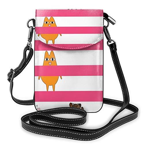 Azumanga Daioh Cats Ladies Wallet Mobile Phone Bag Mini Shoulder Bag with...