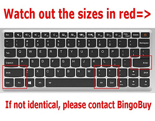 710s 13-inch Plus 510s-13-inch BingoBuy Semi-white US layout Keyboard Protector Skin Cover for Lenovo ideapad 710s 13-inch