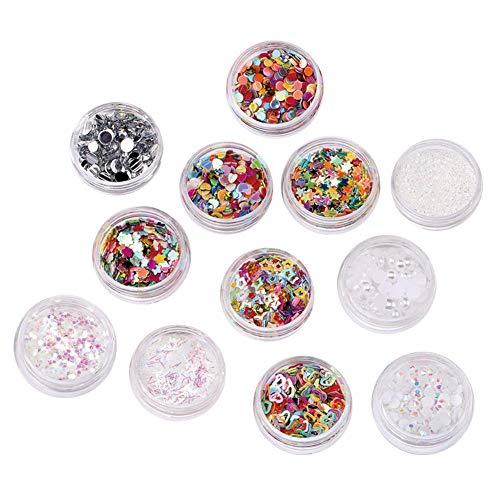 1 Set Colorful Nail Stickers Nails Art Déco Accessoires Diy Manucure Décor Pour Le Maquillage Des Femmes Body Glitter