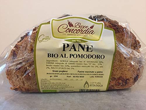 Pane biologico al Pomodoro senza lievito di birra di Grani Antichi Pugliesi macinati a pietra - 3 confezioni da 250gr