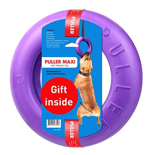 Professional Dog Training Equipment and Bonus - Giant Medium K9 Large Dog Training Tool - Dog Supplies - Real Physical and Emotional Load Your Dog - Puller Plus (XXL Size - one Ring)