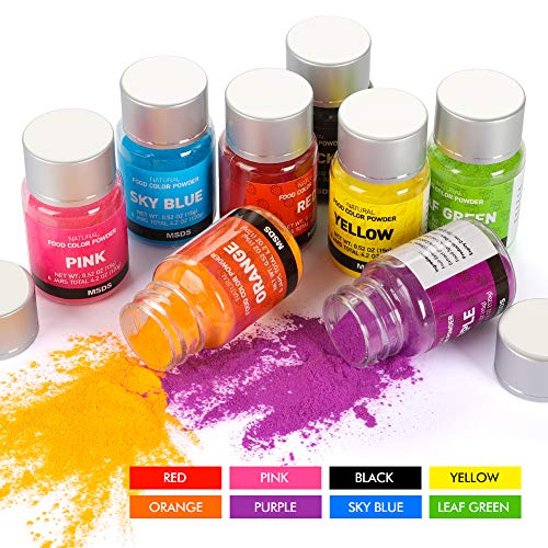Food Coloring Powder Cake Colors Set 8 Colors 4.2 oz Baking Colors, DaCool Food Grade Oil & Water Based Food Colors Dye for Chocolate Candy Icing Cake Cookie Fondant Decorating Crafts DIY