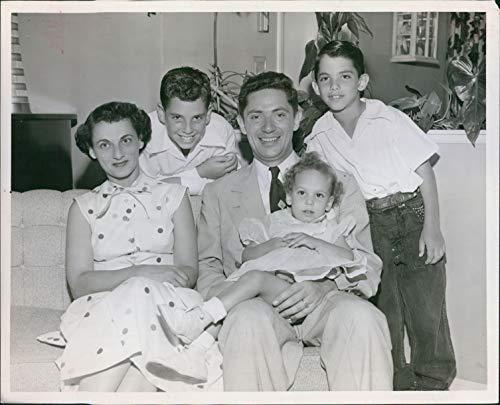 Vintage Photos Milton Friedman Miami Florida Handsome Young Man Children Wife 8X10