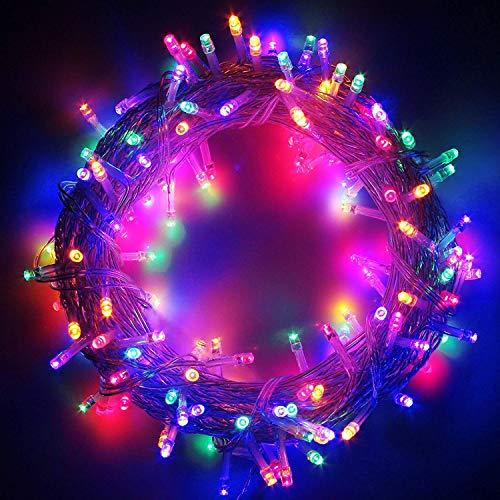 CATENA LUCI A LED LUMINOSO NATALIZIA 600 LEDs 62M LUCE LUCCIOLE CON CONTROLLER 8 FUNZIONI IDEALE PER NATALE COMPLEANNI FESTE (MULTICOLOR COLORI)
