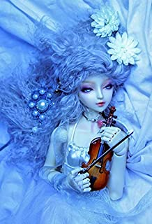 Home Comforts Flower Violin Sweetness Doll Wallpaper White Blue Vivid Imagery Laminated Poster Print 11 x 17