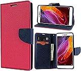Stylento Flip Wallet Cover Case for Lenovo Vibe K5 Note (Pink, Blue)