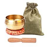 Tibetan Singing Bowls Set, Meditation Bowl for Healing and Mindfulness, Meditation Sound Bowl Handcrafted in Nepal
