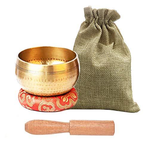 Tibetan Singing Bowls Set, Meditation Bowl for...