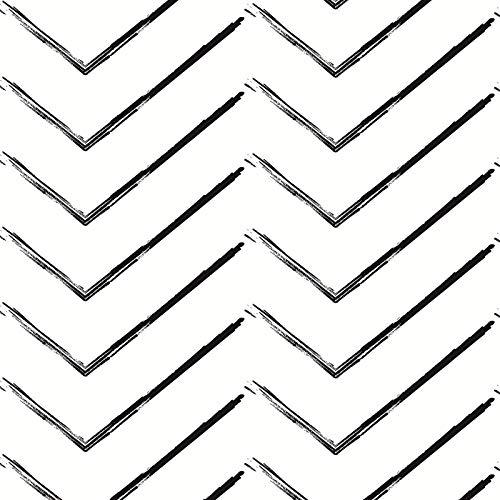 MEIBAN Papel Adhesivo para Muebles 45cmX3m Blanco Negro Raya Textura mate Papel Pintado Vinilo Cocina Impermeable lámina decorativa